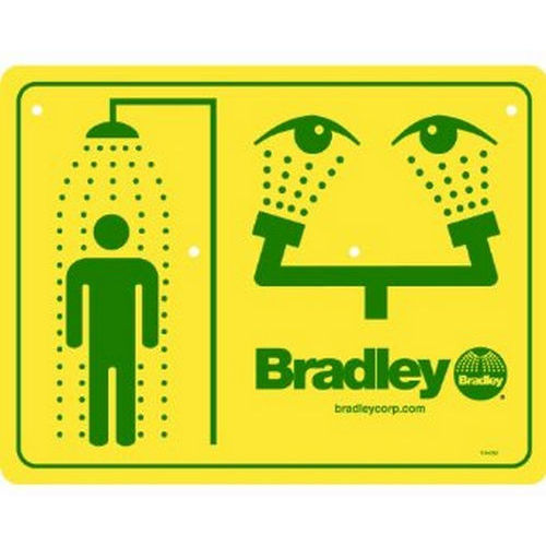 Bradley 114-052 Safety Sign, Eyewash & Shower