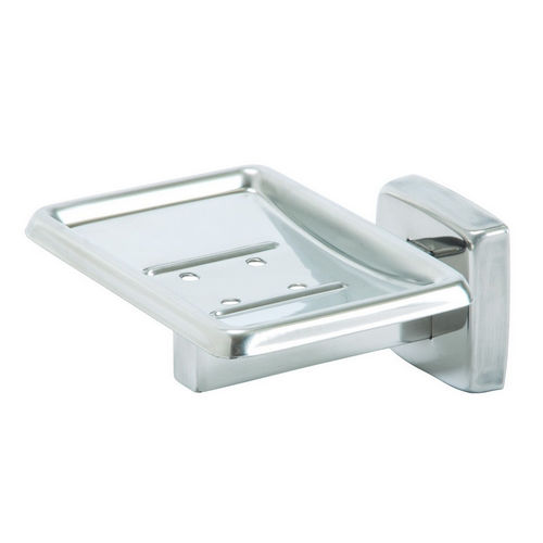 Bradley 9015-000000 Soap Dish, Polished Stainless, Surface Mount