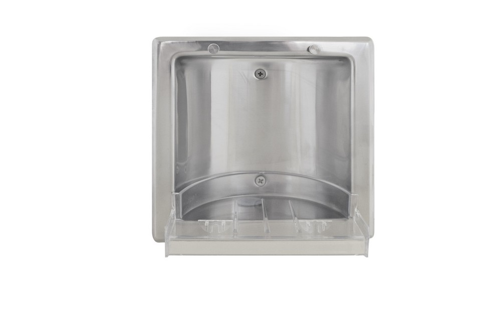 Bradley 9352 000000 Soap Dish Recessed Polished Stainless
