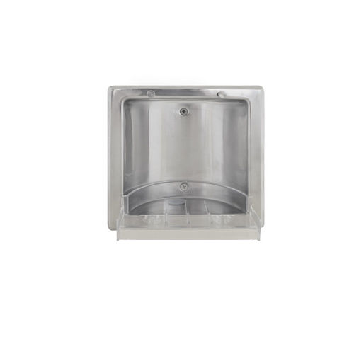 Bradley 9352-550000 Soap Dish, Recessed, Polished Stainless