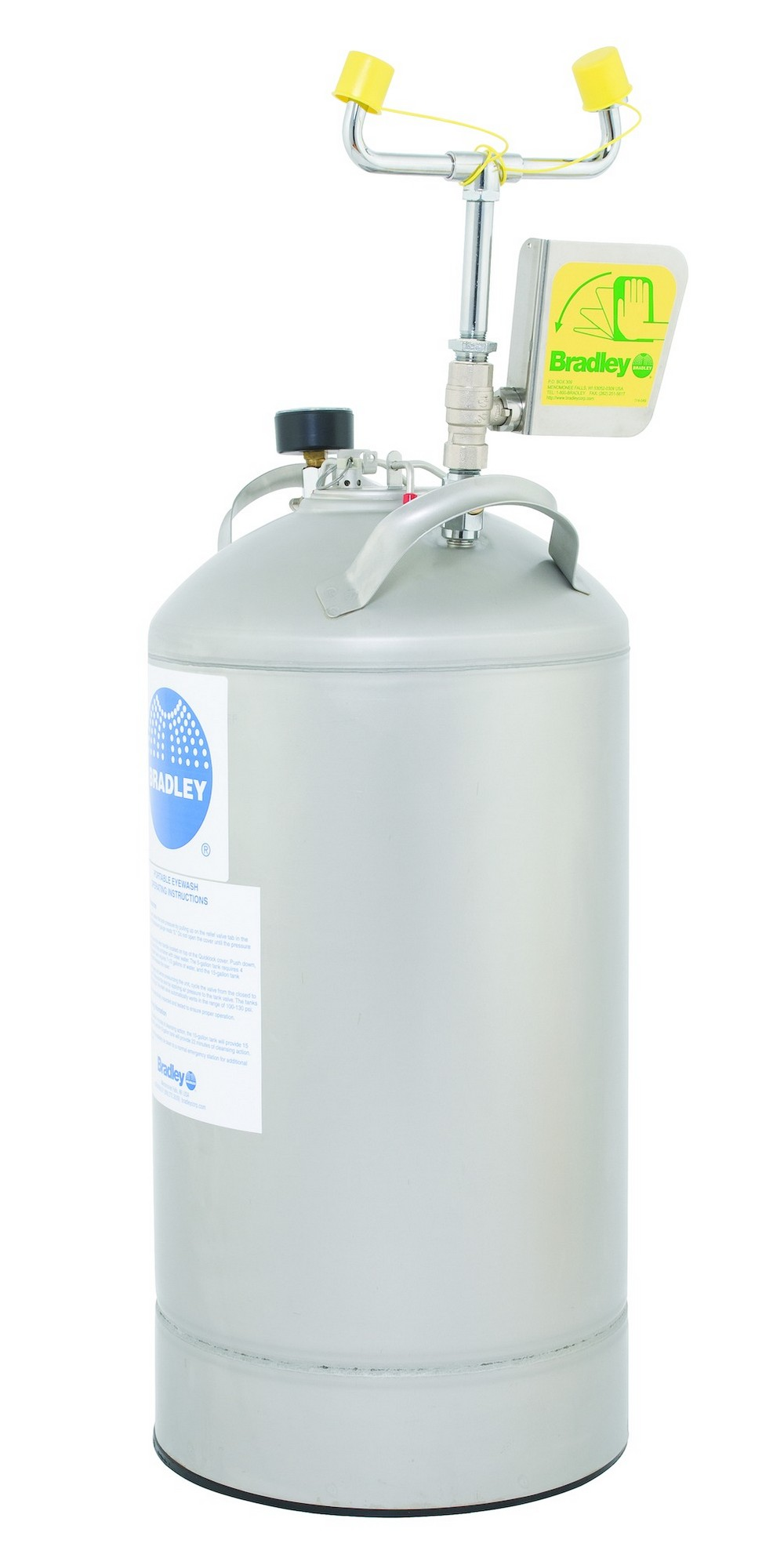 Washroom Products: Bradley S19-690LHS Self Contained Eyewash 10 Gallon
