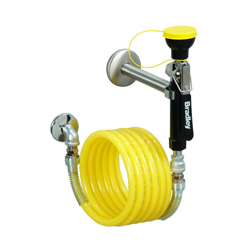 Bradley S1944011CBC Wall-Mount Drench Hose Single Heads