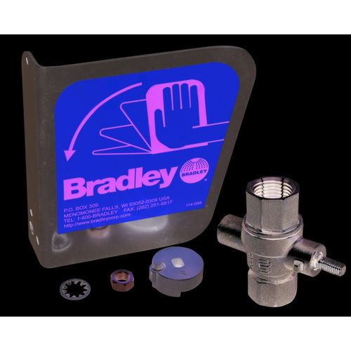 Bradley S30-070 1/2 in Ball Valve/SS Handle Kit