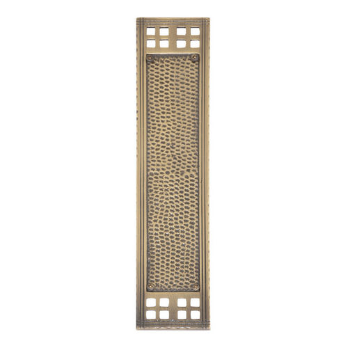 Brass Accents A05-P5350-609 Arts & Crafts Push Plate 2-1/2