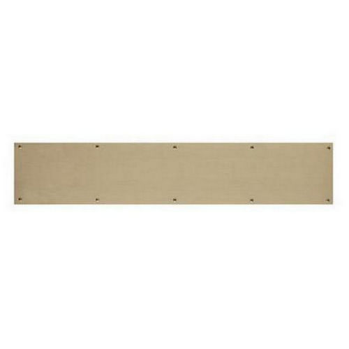 "Small Pewter Door Kick Plate: Brass Accents A09-P0828-609 Kick Plate 8"" X 28"" Screw"