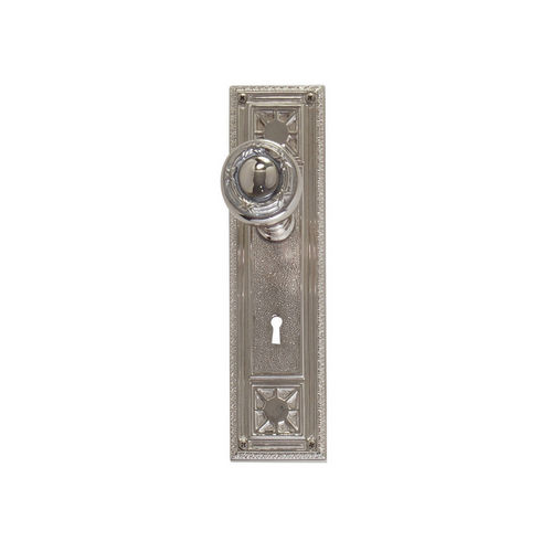 Brass Accents D04-K724A-RBN Renaissance Collection Door Plate Set, Satin Nickel