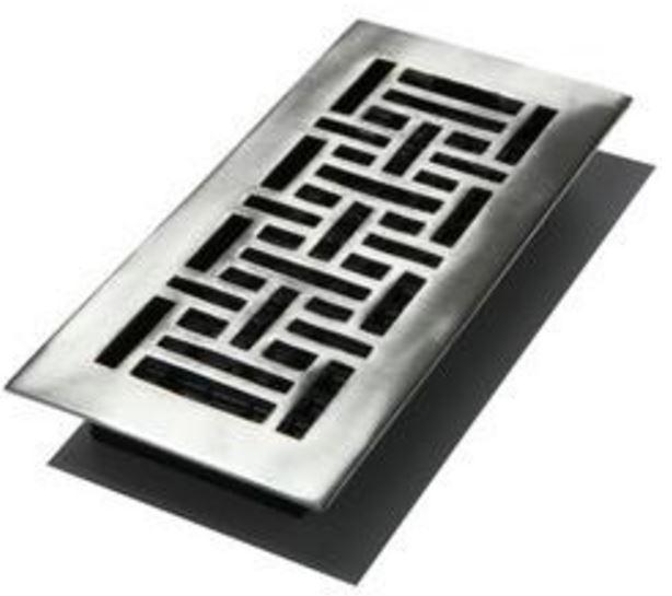 Decor grates aja212 nkl oriental floor registers 2 x 12 for 12 x 8 floor register