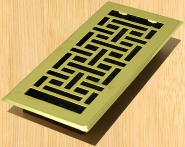 Decor grates ajh412 oriental design floor registers 4 x for 12 x 8 floor register