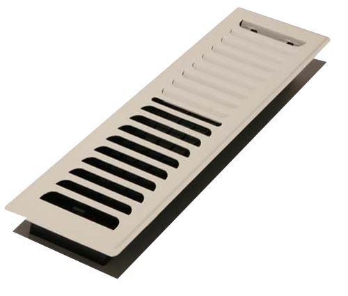Decor grates lp212 wh louvered cold design floor registers for 12 x 8 floor register