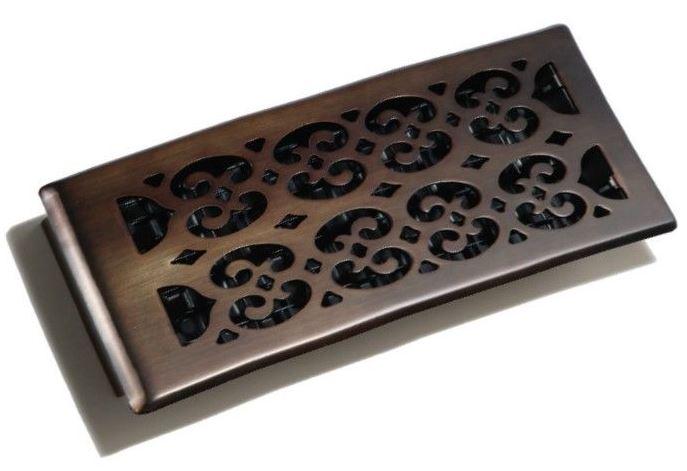 Decor grates sph412 rb decor plated design floor registers for 12 x 8 floor register