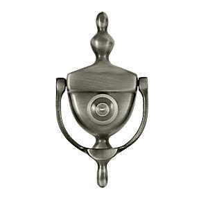 Deltana dkv630u15a door knocker viewer antique nickel each - Door knocker with viewer ...