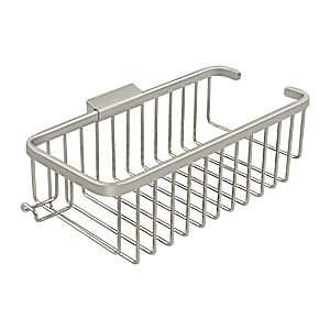 deltana wbr1054hu15 wire basket 10 rect shampoo with hook satin nickel each. Black Bedroom Furniture Sets. Home Design Ideas
