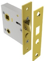 Eric Morris 9001-605 Screen Door Mortise Lock, Highly Polished Brass