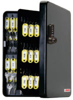 FJM Security SL-9122-UB KeyGuard Dual Access Cabinet, Black 122 Hooks