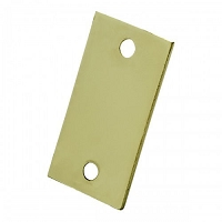 First Watch Security 1190 Filler Plate, Polished Brass