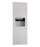Gamco TW-12RP Towel Dispenser & Waste Receptacle Combination