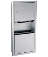 Gamco TW-3 Towel Dispenser & Waste Receptacle Combination, 2-gal.