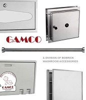 Gamco TW-14RP-T Automatic Roll Towel Dispenser & Waste Receptacle Textured