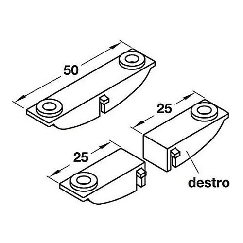 Hafele 778.49.422 Saddle for Bracket, Transparant, Each