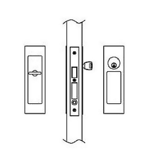 Hafele 911.26.802 Sliding/Pocket Door Lock, Entry With Single Cylinder, Each