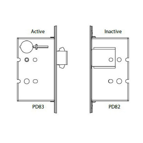 Hafele 911.26.813 Sliding/Pocket Door Lock, With Edge Pull for Inactive Door, Each