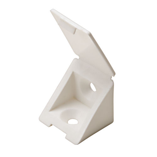 Hafele 260.24.720 Angle Bracket with Cover Cap, White