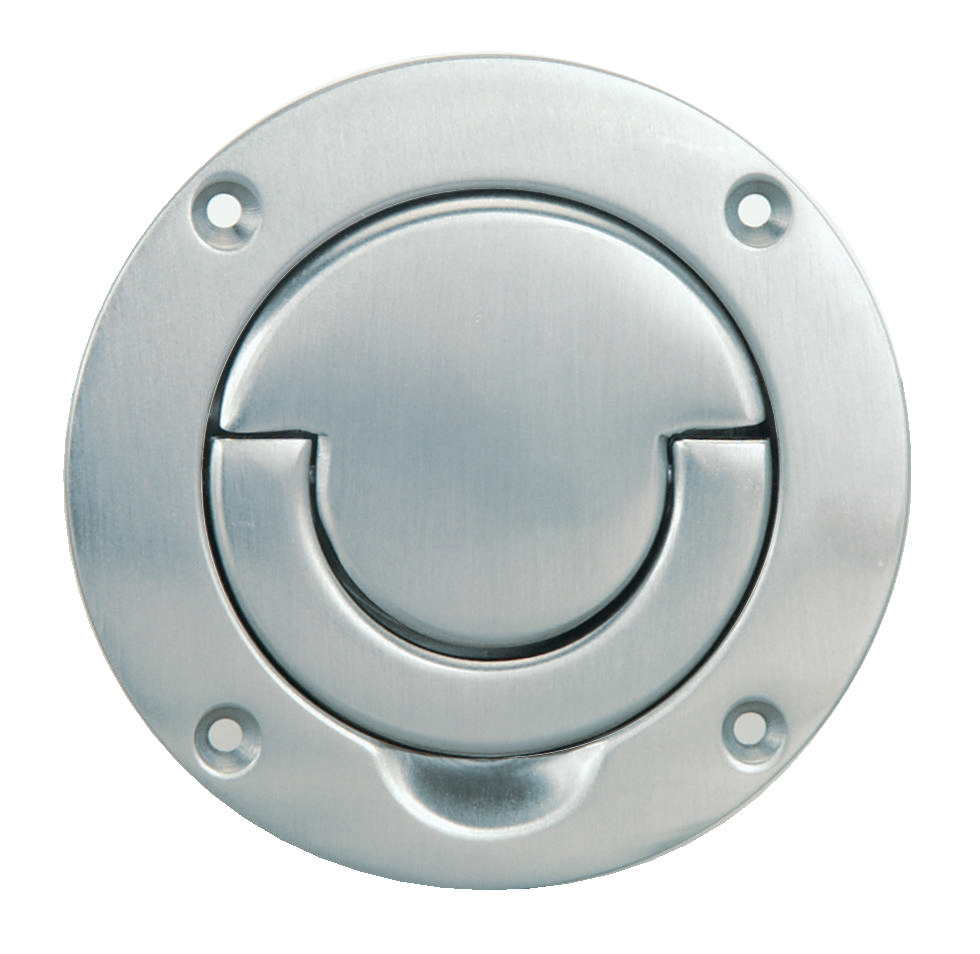 Hafele flush ring handle nickel plated for Flush door price