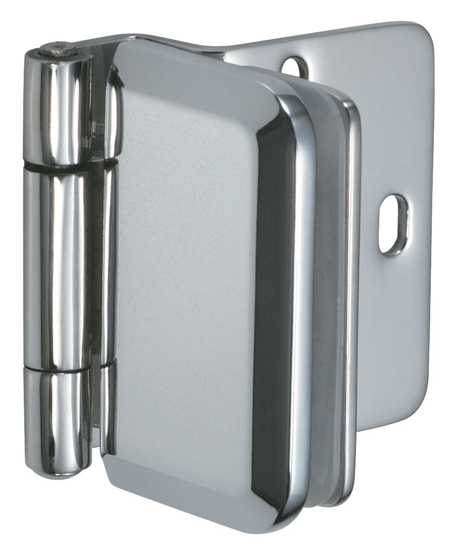 Hafele glass door hinge overlay stainless polished for Window hinges