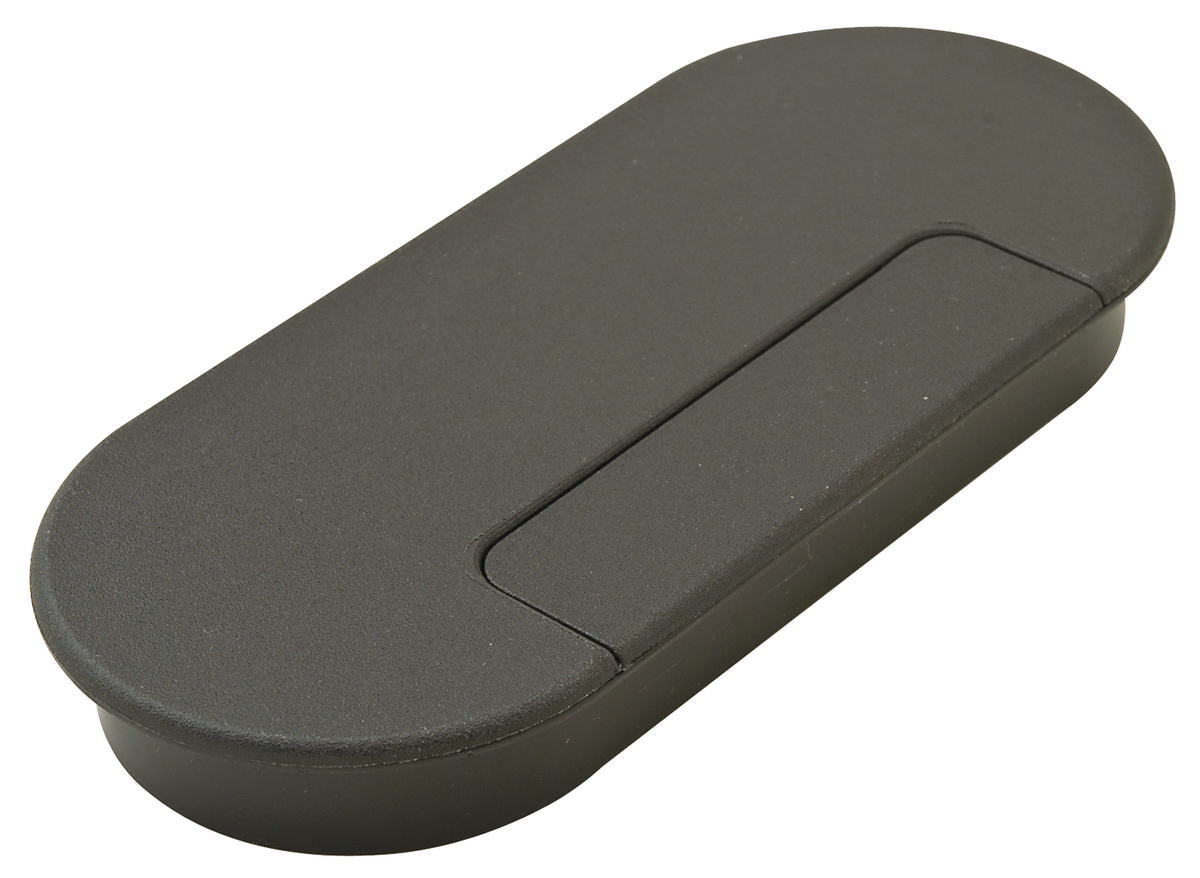 Hafele 429 87 306 Oval Cable Grommet Plastic Black