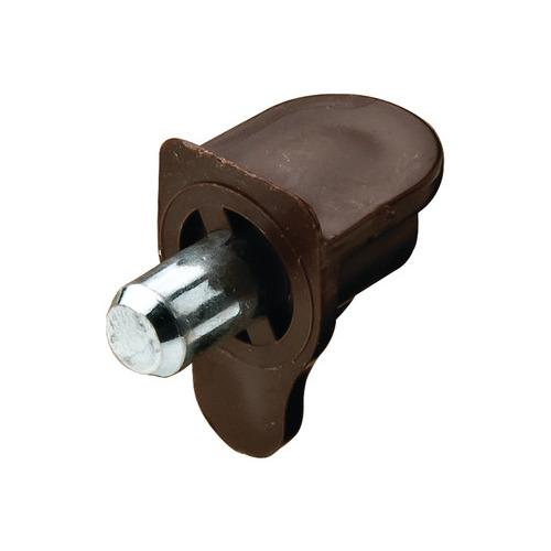 Hafele 282.12.105 Shelf Support, For wood or glass, plastic, for plug fitting into drill hole Ø 5 mm