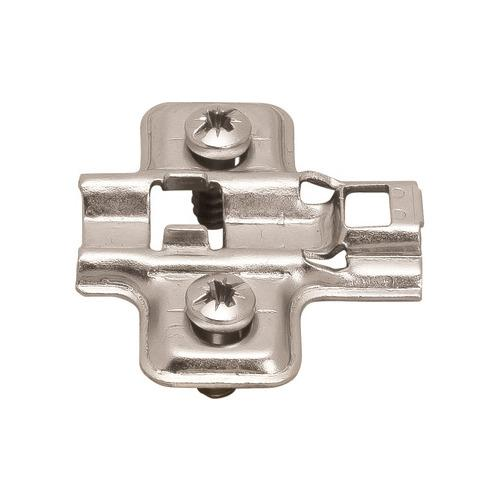 Hafele 315.98.530 Mounting Plate, Flanged, for Clip-On Hinges, with Euro Mounting Screws