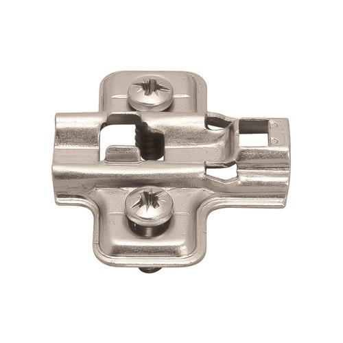 Hafele 315.98.532 Mounting Plate, Flanged, for Clip-On Hinges, with Euro Mounting Screws