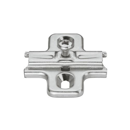 Hafele 329.80.528 Cruciform Mounting Plate, Häfele Duomatic A, steel, with chipboard screws, edge distance 37 mm