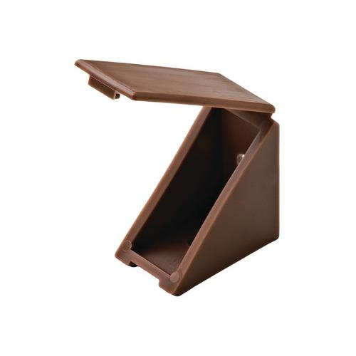 Hafele 260.24.140 Angle Bracket, with Attached Cover Cap, 19 x 34 x 34 mm