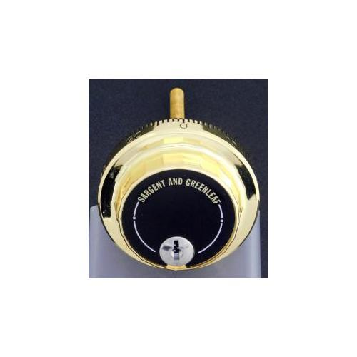 SARGENT & GREENLEAF D690-078 BRASS KEY LOCKING DIAL