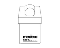Medeco 54520LO System Series Padlock Non Key Removable x 3/4