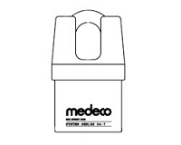 Medeco 54720LO System Series Padlock Non Key Removable x 1-3/8
