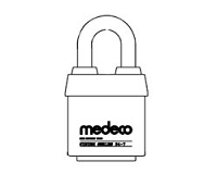 Medeco 54710LO System Series Padlock Non Key Removable x 1-3/8