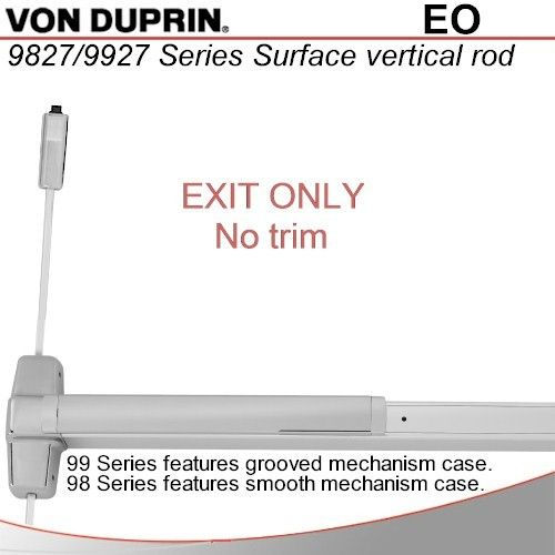 Von duprin 9927eo 99 series svr exit device 36 bright for Von duprin 99 template