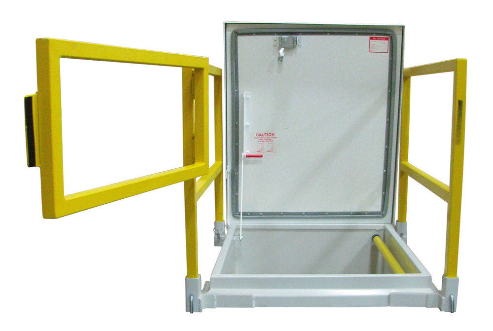 Milcor Access Doors : Milcor  srg m roof hatch with safety rail