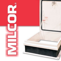 Milcor 3501-501-9 Roof Hatches Clear Opening, Single Leaf Size 36
