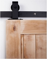 Rustica Top Mount Industrial Buck Barn Door Hardware