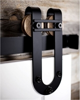 Rustica Horseshoe with Bar Draft Barn Door Hardware