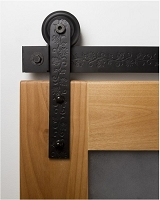 Rustica Texture Series - Floral Barn Door Hardware