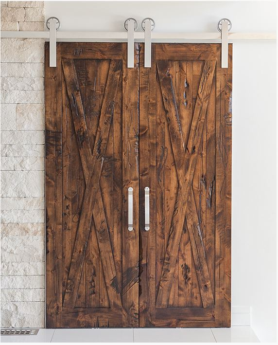 Rustica Bi Parting Barn Door Hardware System
