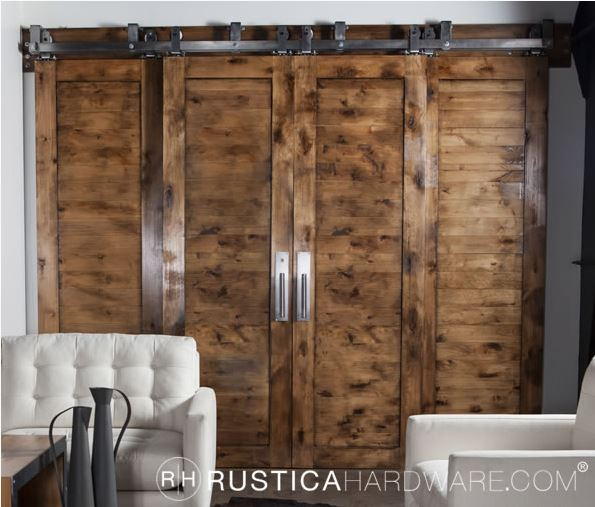 Rustica Bypass Barn Door Hardware Builderssale Com