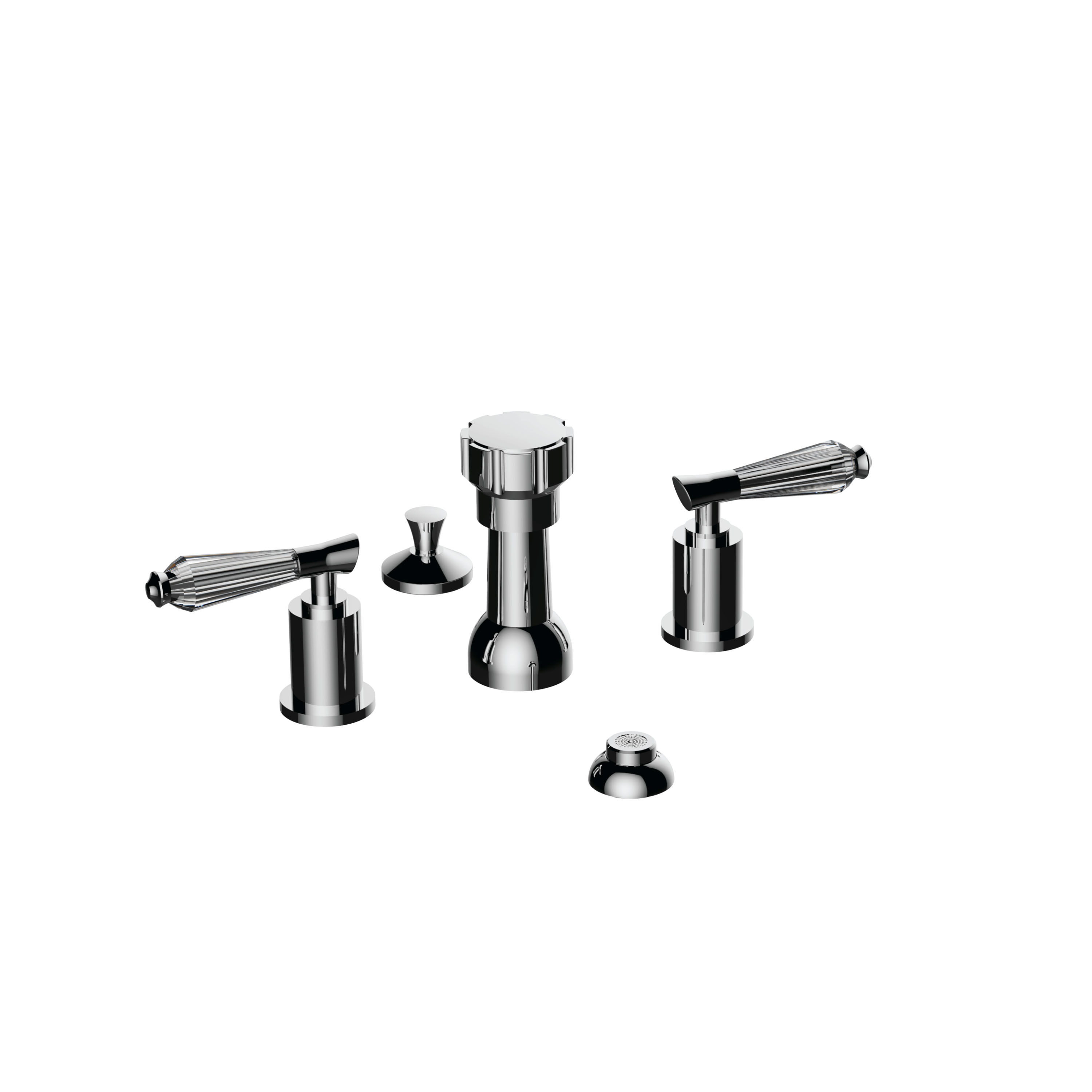 Santec 9470fc Bidet Widespread With Fc Handles Polished Chrome