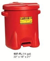 Strike Firs 937-FL Poly Oily Waste Can, Red