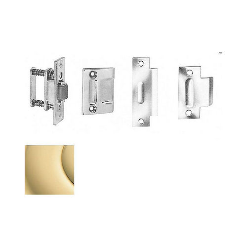 Baldwin 0430030 Roller Latch With Full Lip Strike Bright Brass Finish