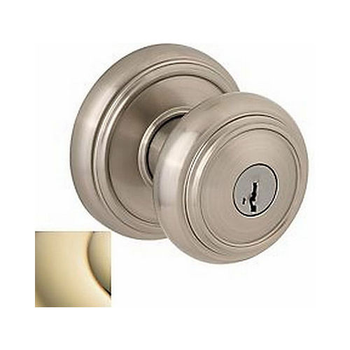 Baldwin Prestige 354ATKRDBL03S Entry Alcott with Round Rose with 6AL Latch, RCS Strike, and Smart Key Lifetime Brass Finish